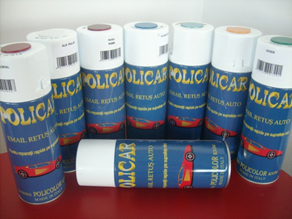 POLICAR SPRAY RETUS METALIZAT ROSU CORAL – 400 ML